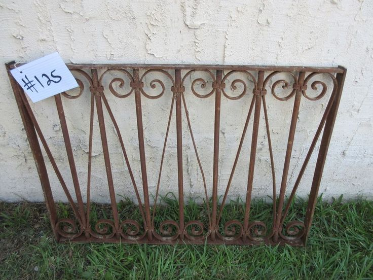 Antique Victorian Iron Gate Window Garden Fence Architectural Salvage Door #125