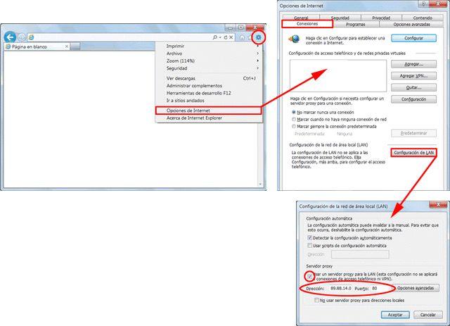 Configura un proxy