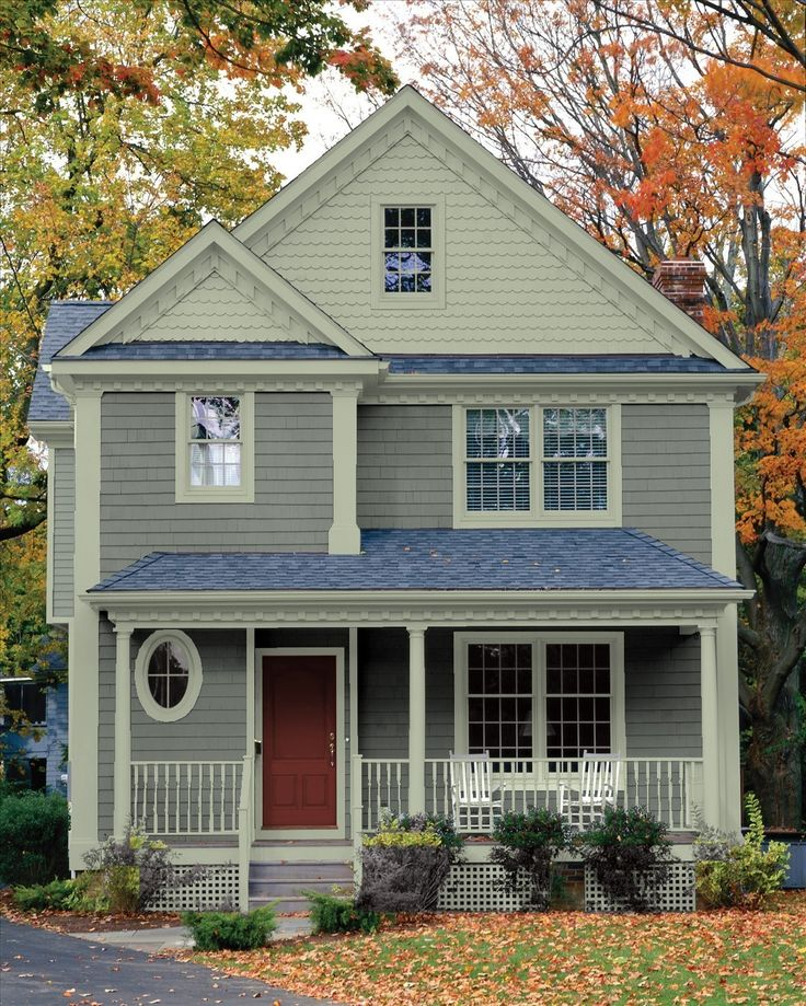 Stonington gray bm exterior front door paint colors - Colours for exterior house painting ...