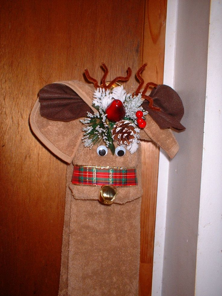 Simple Favors  Things Holiday Reindeer Towel  Crafts  Christmas towels Dish towel crafts