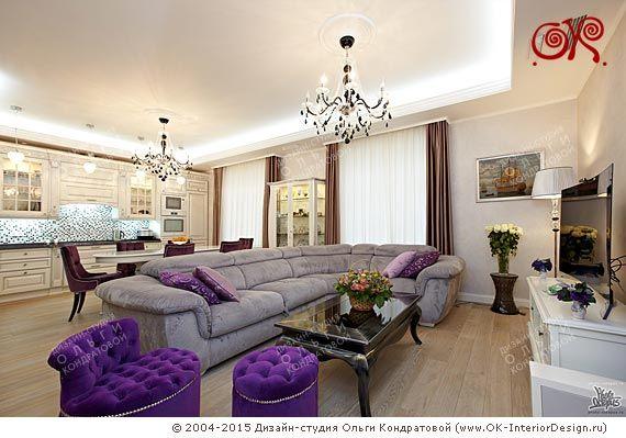Дизайн гостиной  http://www.ok-interiordesign.ru/ph35_design-kvartir.php