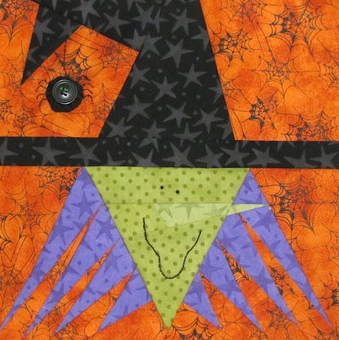 Witch Halloween Paper Piecing Pattern