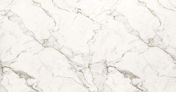 Laminat som liknar marmor art nr F3460. En bänkskiva Calacatta Marmor är inte känsligt för syror som riktig marmor.