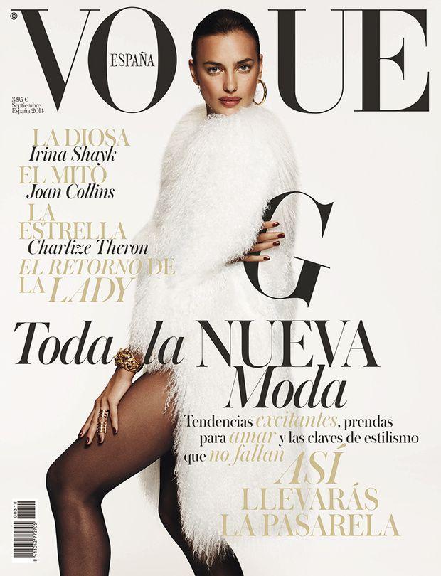 Irina Shayk by Paola Kudacki Vogue España September 2014