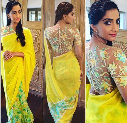 Sonam Kapoor in Yellow Saree