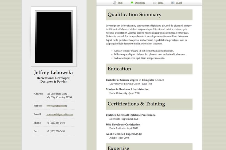 Resume Samples Business Pinterest Online resume, Template - resume templates for word pad