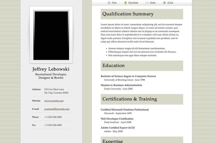 Resume Samples  Business    Online Resume Template