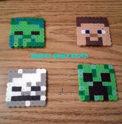 Minecraft faces. $5.50, via Etsy.