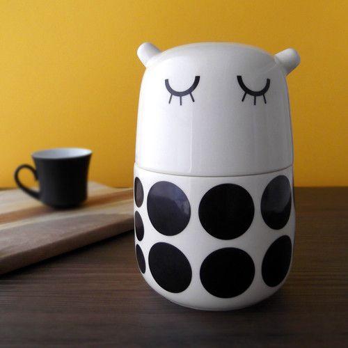 Black and white never gets old. #camilaprada #cute #design #tableware #kawaii #fall