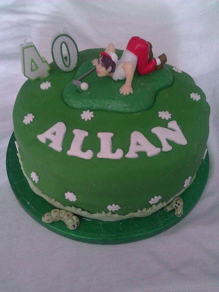 40th birthday themes | 40th birthday cake ideas for men golf