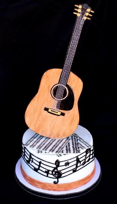 Guitar Cake by CuteologyCakes