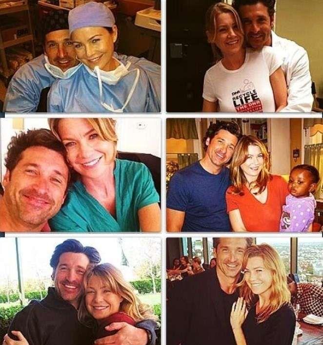 Meredith and Derek (Ellen Pompeo and Patrick Dempsey) | Grey\'s ...
