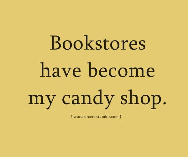But make no mistake, I love candy, too. There needs to be a candy-book shop and I'd die happy.