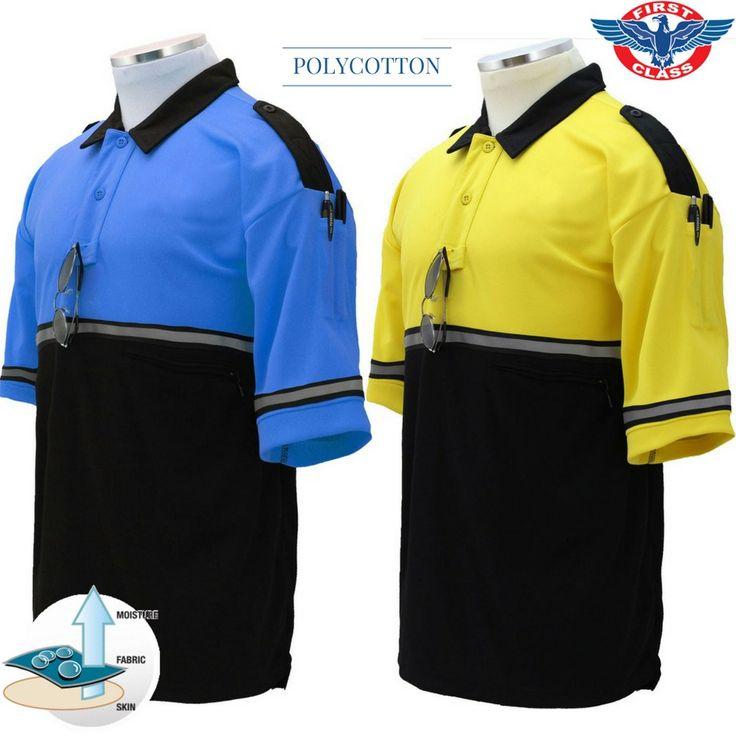 First class polycotton twotone bike patrol polo shirt