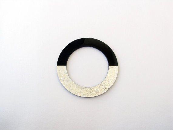 Black Resin Bangle-Geometric Resin by SotiriaVasileiou on Etsy