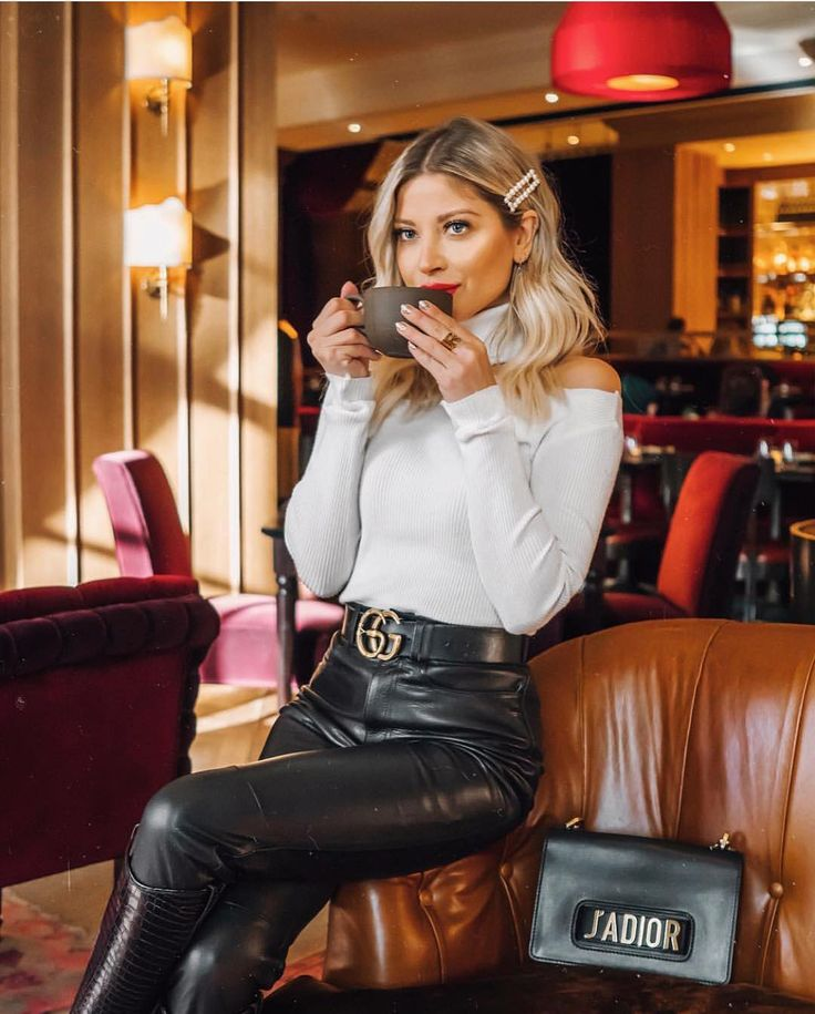 leather weather 🐾 Rose Vandekerckhove wearing L…