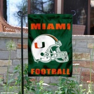 Miami Hurricanes Football Garden Flag