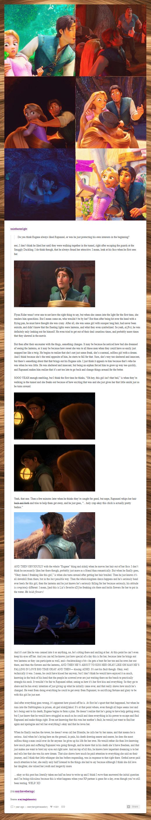 The theory on Eugene from Tangled
