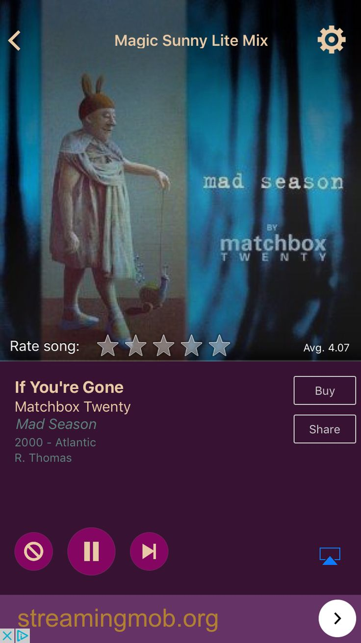 If You're Gone by Matchbox Twenty on AccuRadio