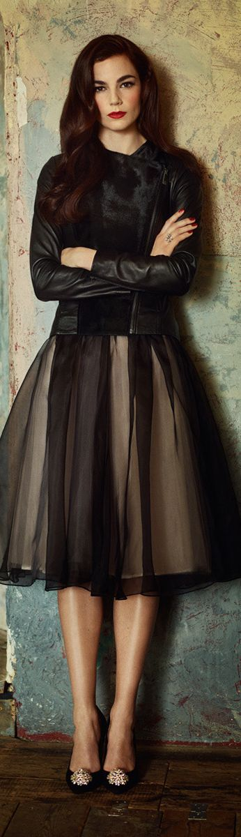 Ted Baker London AW 2014 ● Signature Toile Skirt.