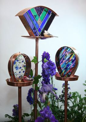 Stained Glass Bird Feeders
