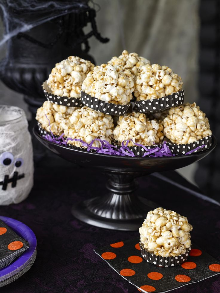 Get recipes for nostalgic Halloween treats, and learn who invented popcorn balls, caramel apples, and more.