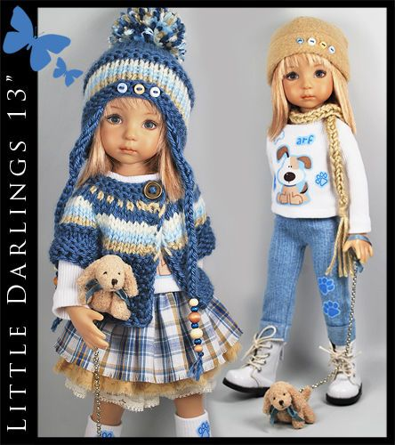 "PUPPY Mix&Match 10-Piece Outfit for Little Darlings Effner 13"" by Maggie & Kate"