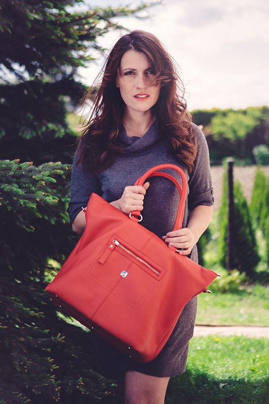 Alyse RED a brand new bag by Magya.pl #leather #bag #red #fashion #woman