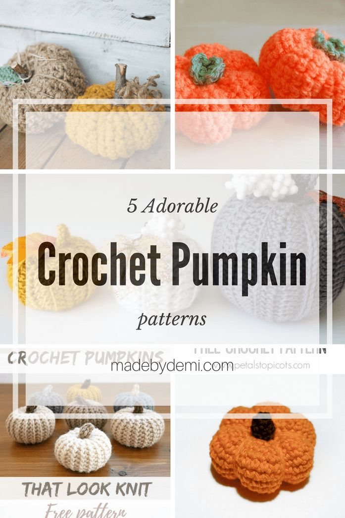5 Adorable Crochet Pumpkin Patterns - made by demi