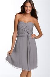 Donna Morgan Twist Detail Chiffon Dress