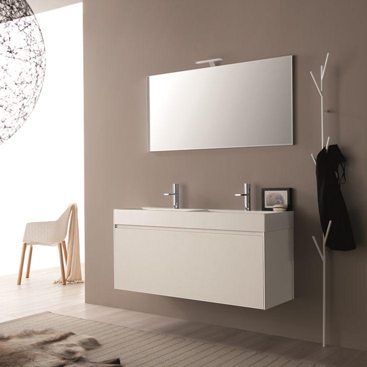 Composizione mobili bagno moderni sospesi Light 45 Novello