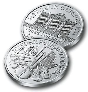Austrian silver coin commemorating the Vienna Philharmonic