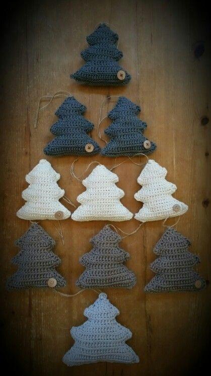 Kerstboom gehaakt, kerst, Christmas. ♡ ~Rustic Living ~GJ *  Kijk ook eens op mijn blog: www.rusticlivingbygj.blogspot.nl