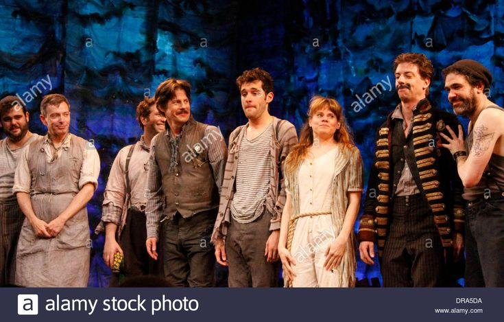 Download this stock image: Greg Hildreth, Arnie Burton, David Rossmer, Rick Holmes, Adam Chanler-Berat, Celia Keenan-Bolger, Christian Borle and Kevin Del Aguila Christian Borle's last performance as Black Stache in the Broadway play 'Peter and the Starcatchers' at the Brooks Atkinson Theatre - Curtain Call New York City, USA – 30.06.12 - DRA5DA from Alamy's library of millions of high resolution stock photos, illustrations and vectors.