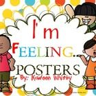 These are a set of large posters about feelings to post in your classroom. In addition their is a feelings journal and buttons with explanation on ...
