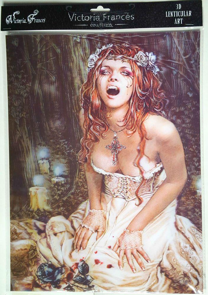 Licensed 3D Lenticular Victoria Frances LIBERAME RETOCA Vampire Bride Gothic Art