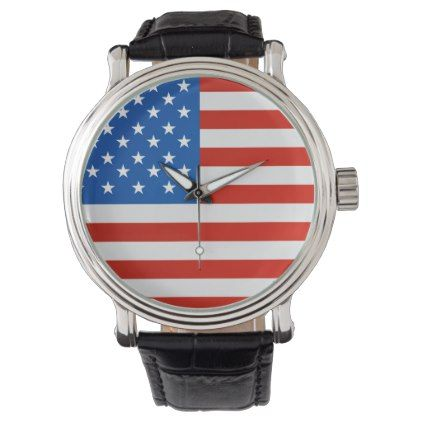 United states national flag wrist watch  $44.95  by Flags_Store  - cyo customize personalize diy idea