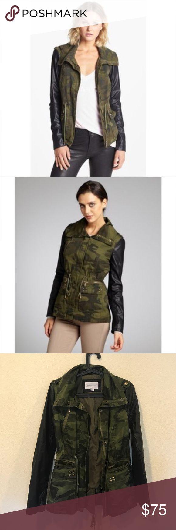 Bcbgeneration camp and leather anorak jacket coat From Brighton the Day blog. No trades. BCBGeneration Jackets & Coats Utility Jackets