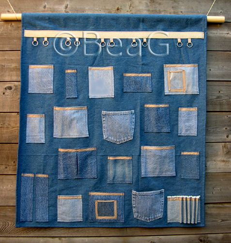 Huge Zakkenlap (Wall Pockets) by Made by BeaG, via Flickr
