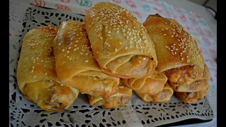 مسمن مقرمش بحشوة لذيذة جدا لمائدة رمضان الكريم