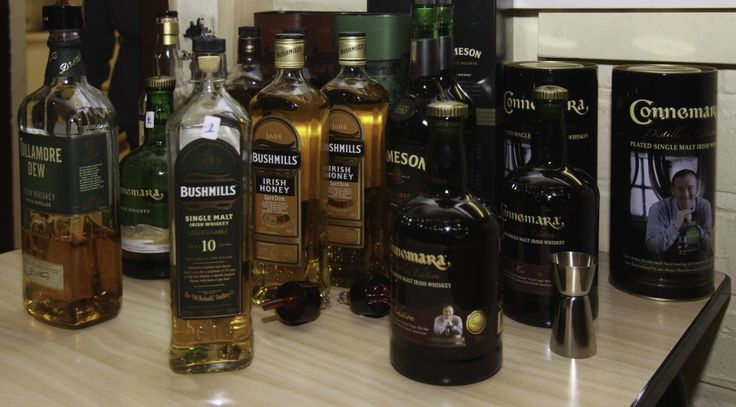 Ierse whiskey's voor Saint Patrick's Day