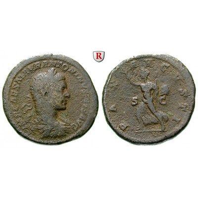 Römische Kaiserzeit, Elagabal, Sesterz 219-220, f.ss: Elagabal 218-222. Messing-Sesterz 33 mm 219-220 Rom. Drapierte und gepanzerte… #coins