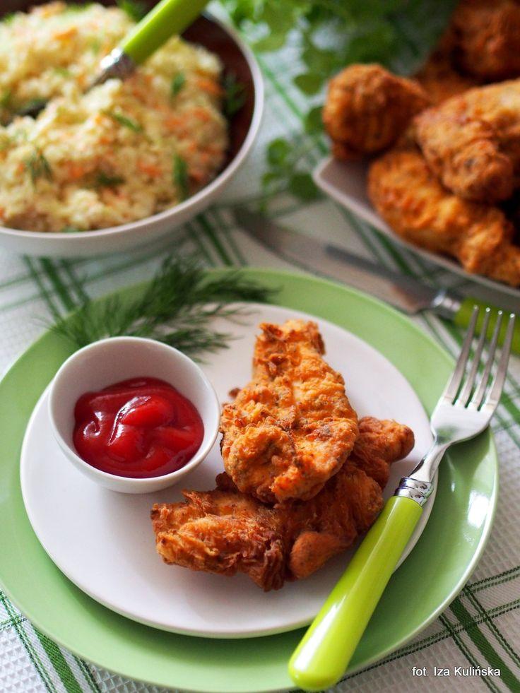Smaczna Pyza: Polędwiczki w chrupiącej panierce. Strips a'la KFC