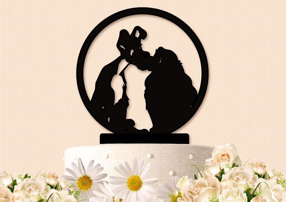 Check out this item in my Etsy shop https://www.etsy.com/listing/294628003/lady-and-the-tramp-inspired-wedding-cake