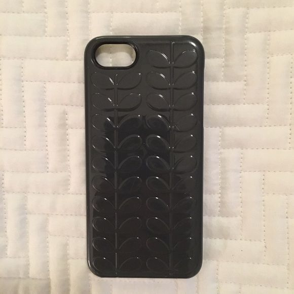 SALE!  Orla Kiely dark gray iPhone 5s case Great condition. Orla Keily Accessories Phone Cases