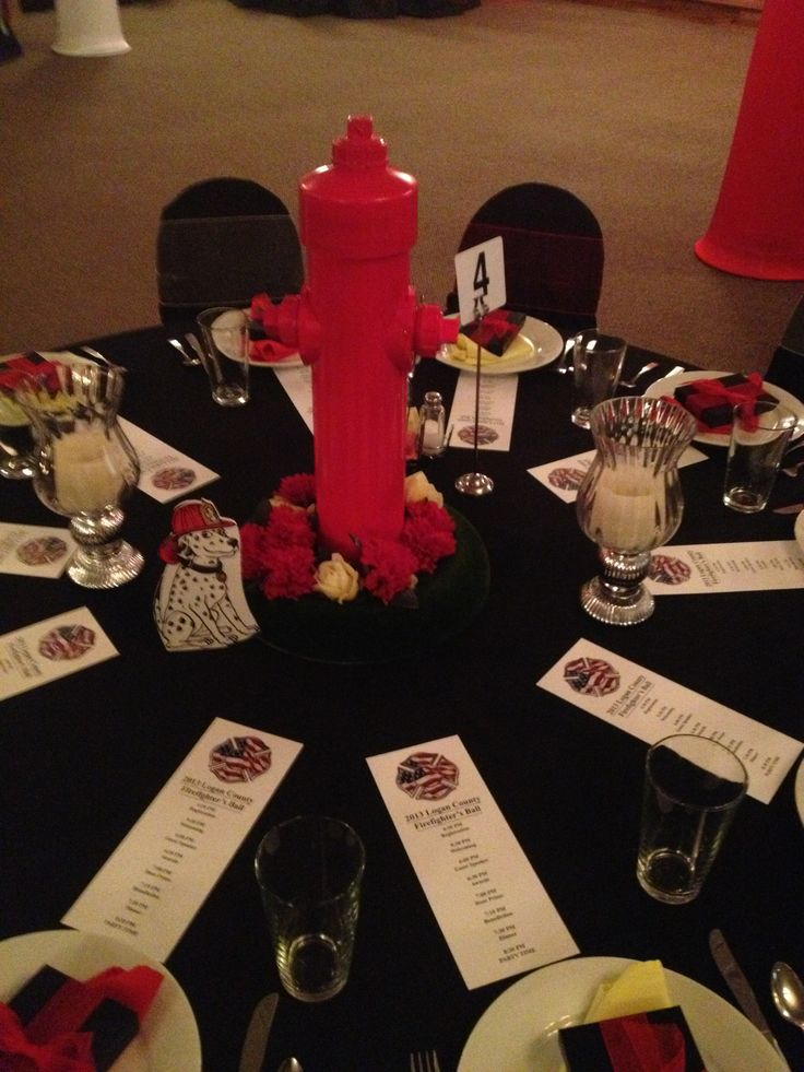 Fire Department Banquet Centerpieces : Best auction themes images on pinterest birthdays