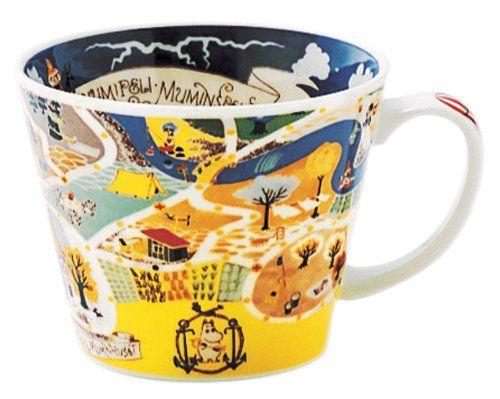 Amazon.com: Moomin Valley Map Design Soup Mug Cup Yamaka Japan: Kitchen  Dining