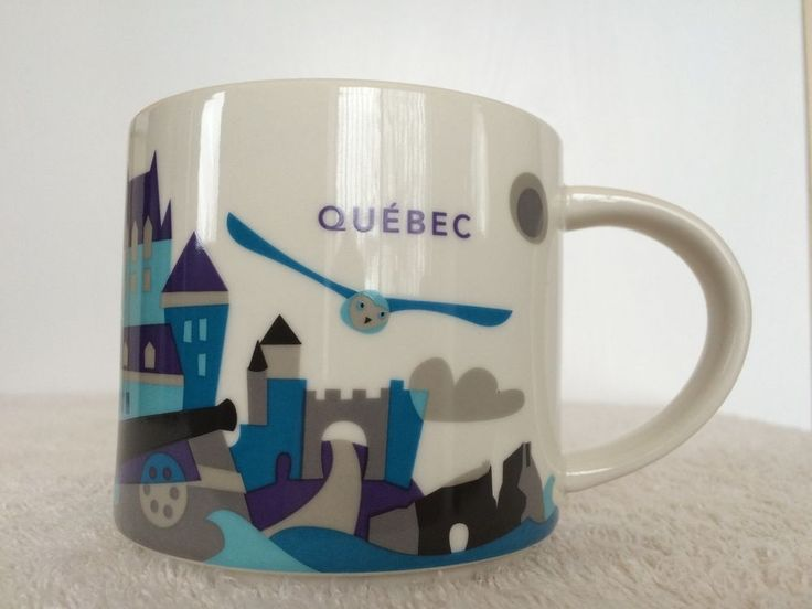 NIB Quebec You Are Here Collection YAH 2015 Coffee Mug Cup 14 Oz Starbucks | eBay