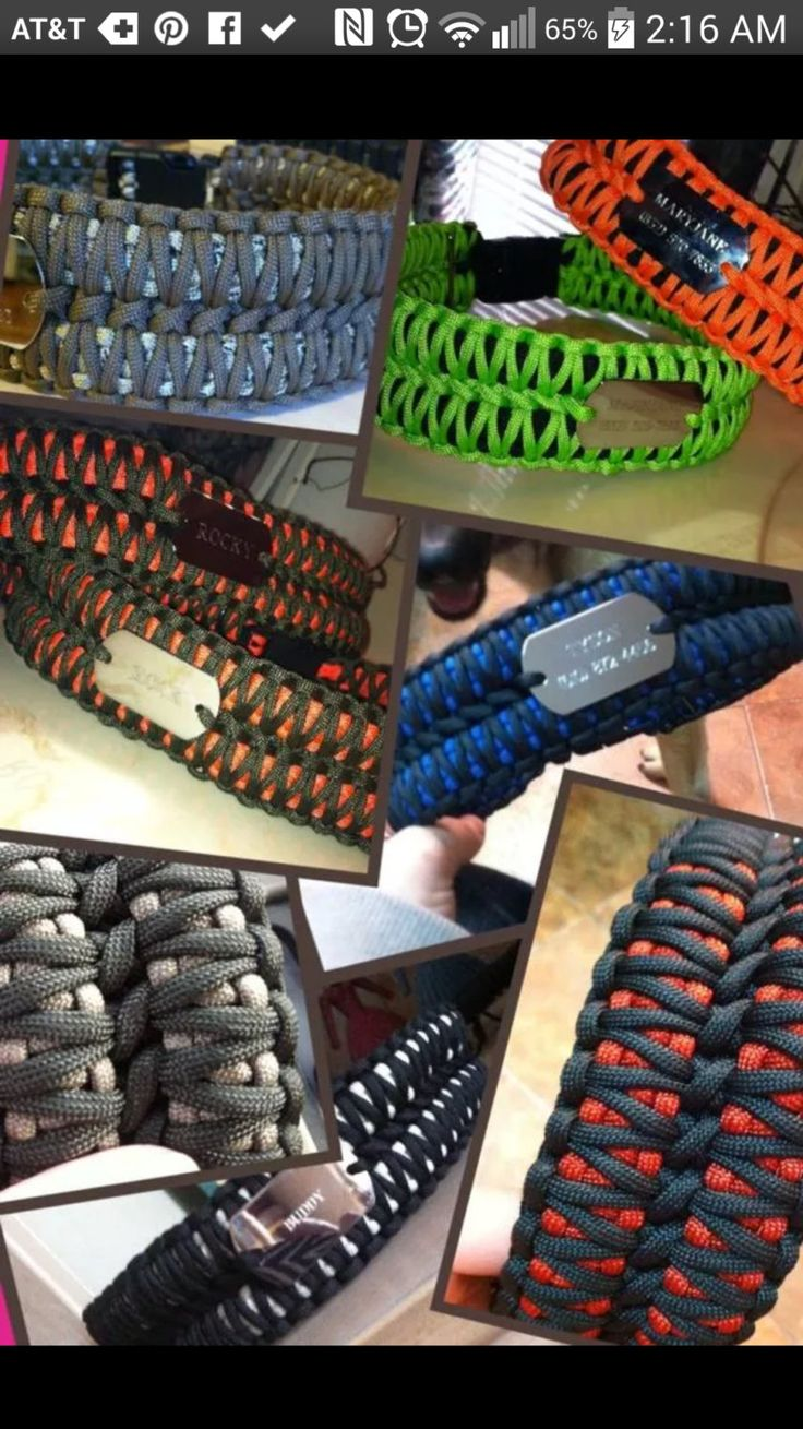 Dog Collar That Shouldn't Be To Hard To Replicate:: 550 Paracord Dog Collar with METAL BUCKLE and ID tag by PlumWhitty, $34.99