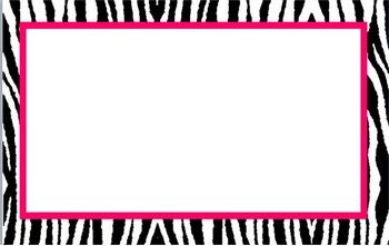 I also made these in MS Publisher, so they are editable. All are made with zebra with choices of colors such as pink, red, blue, green, purple, yel...